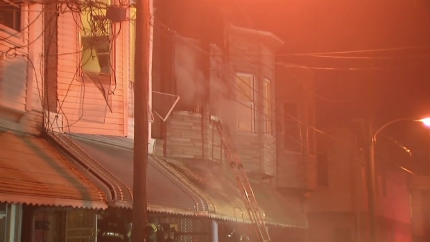 Raw Video: Philly House Fire Hurts 5