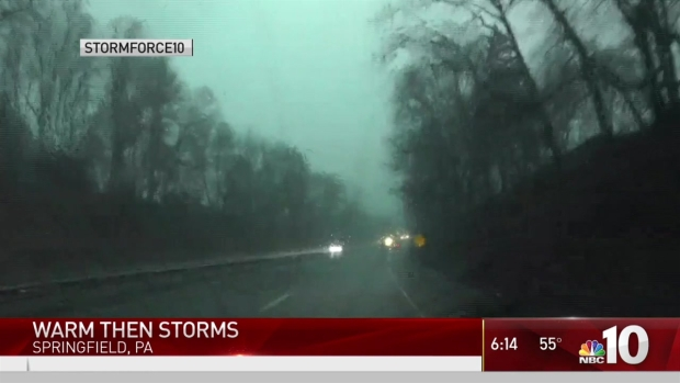 Warm to Storm: Hail, Wind and Rain Pelt the Area