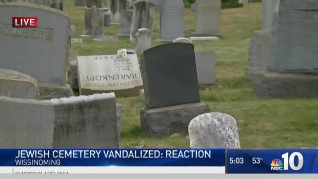 Headstones Desecrated at Jewish Cemetery in Wissinoming