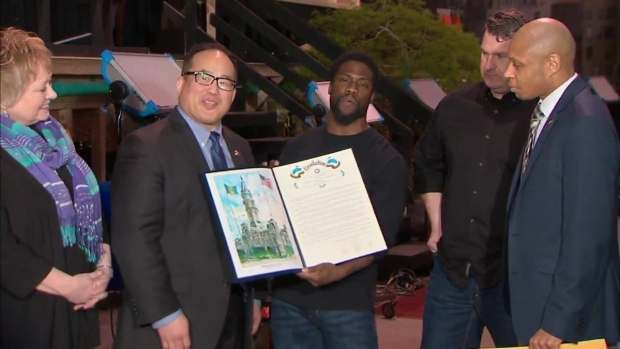 Raw Video: Kevin Hart Accepts Special Proclamation