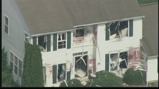 Raw Video: Deadly Standoff Leaves Delaware Home Destroyed