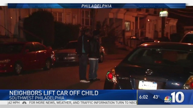 Neighbors Lift Car Off Child