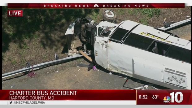 Philadelphia Officers on Bus Directly Behind Crash on I-95
