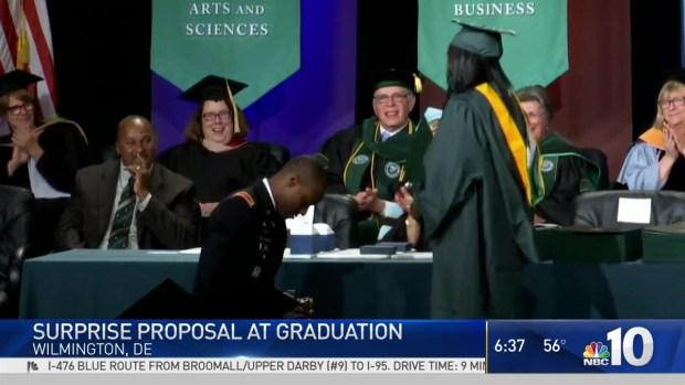 Surprise Proposal at Graduation