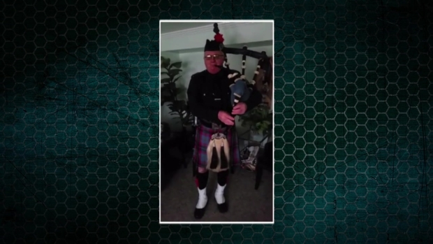 Bagpiper John Nicklous