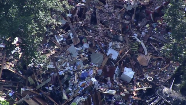 House Destroyed by Explosion in Gloucester County, New Jersey
