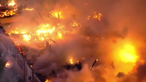 Raw Video: Massive Fire at Delaware County Catholic School