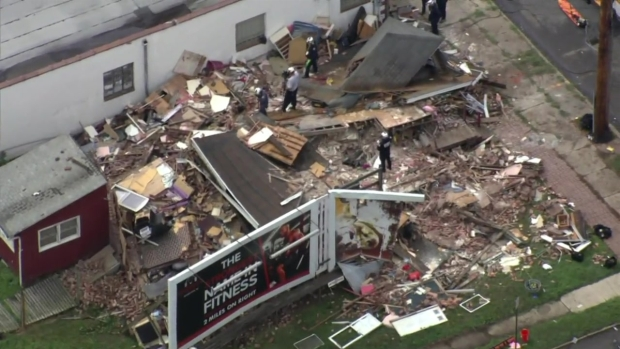 Raw Video: New Jersey House Collapse