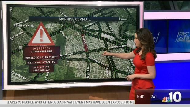 First Alert Traffic: Massive Fire Closes Roads in Overbrook
