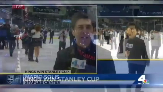 [CHI] Caught on Camera: Woman Falls on Ice After Stanley Cup Winning Game