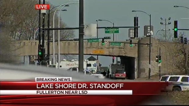 [CHI] Police Standoff Following Chase on Lake Shore Drive
