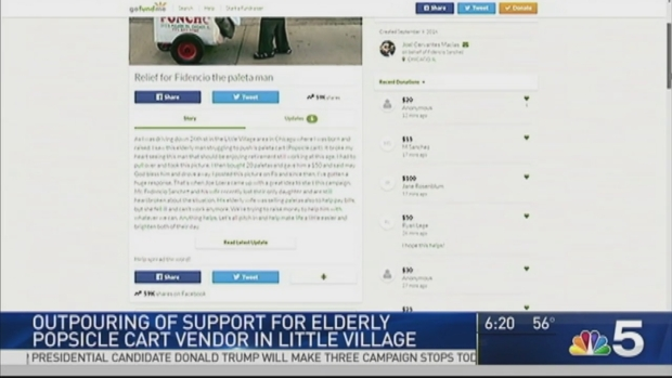 [CHI] Outpouring of Support for Elderly Popsicle Cart Vendor in Little Village