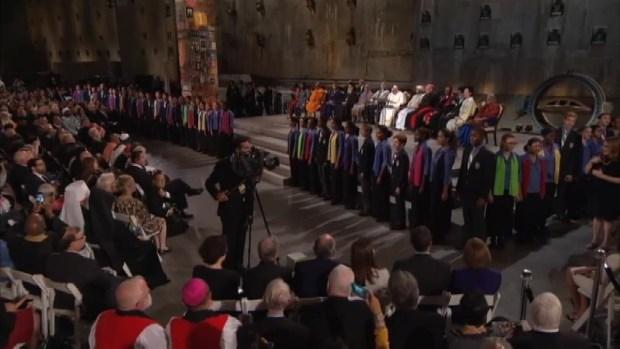 [NATL-NY] WATCH: Children's Chorus Sings at Ground Zero