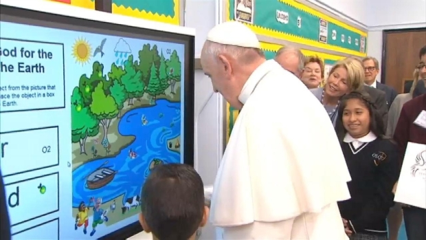 [NATL-NY] Kids Teach Pope to Use Touchscreen