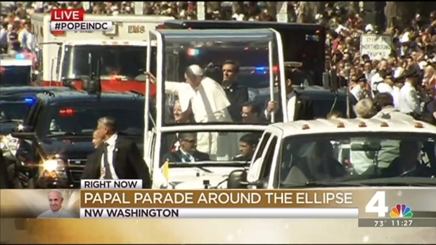 [NATL-DC] FULL VIDEO: Papal Parade