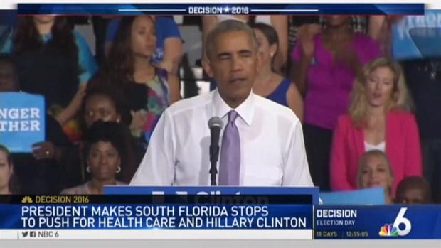 President Obama Discusses Trump, Rubio During Miami Appearances