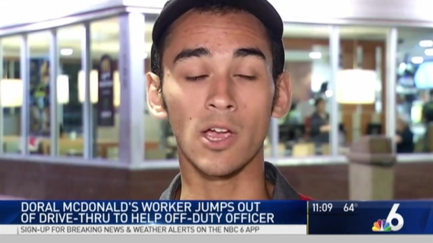 [NATL-MI] McDonald's Worker Jumps Out of Drive-Thru to Help Driver