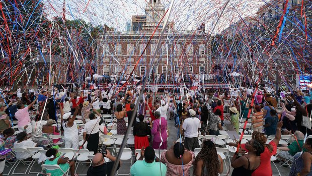 Welcome America Gospel Choir Performs at Independence Hall