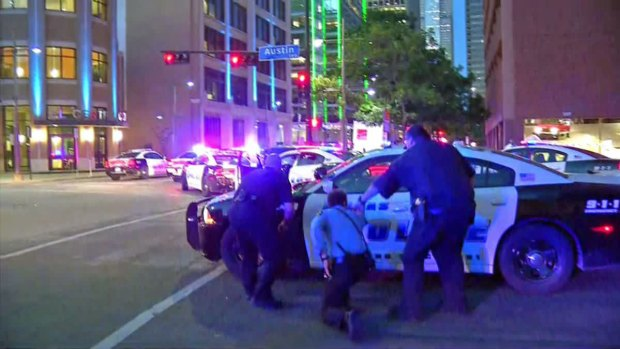 [NATL-DFW] First Seconds: Protest Erupts into Gunfire