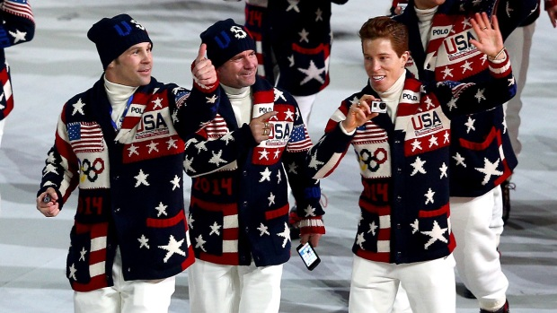 [SOCHI-NATL] Team USA at the Sochi Olympics Opening Ceremony