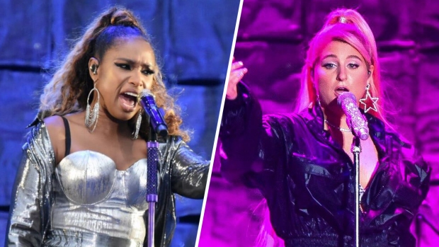 Jennifer Hudson and Meghan Trainor Rock the Parkway