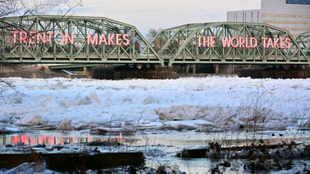 Ice Jam Beauty on Delaware River