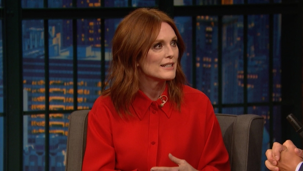 [NATL] 'Late Night': Julianne Moore Was Embarrassed to Sing in 'Bel Canto'
