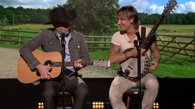 [NATL] 'Tonight Show' Keith Urban and Jimmy Fallon SIng Country Music