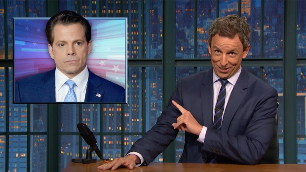 [NATL] 'Late Night': Closer Look at Scaramucci's Profane Tirade