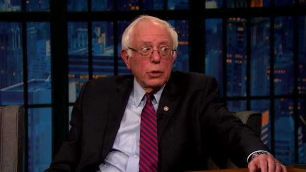 [NATL] 'Late Night': Bernie Sanders on Trading Barbs With Hillary Clinton
