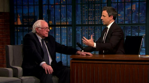 'Late Night': Bernie Sanders Is Optimistic About the Future