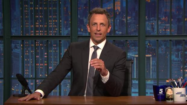 [NATL]'Late Night': Seth Meyers Gets Real With Hillary Clinton About Her Book