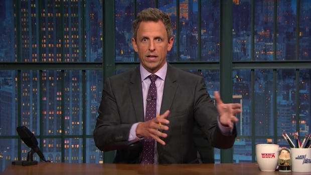 [NATL] 'Late Night': Seth Meyers Reflects on Protests During Anthem, Love of Football