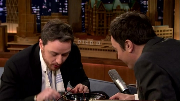 [NATL] 'Tonight Show': Ramen Challenge With James McAvoy