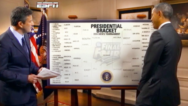 [AP] Watch: Obama Chooses Michigan State For NCAA Win