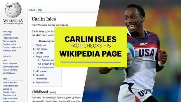 [NATL] Carlin Isles Fact-Checks His Wikipedia Page
