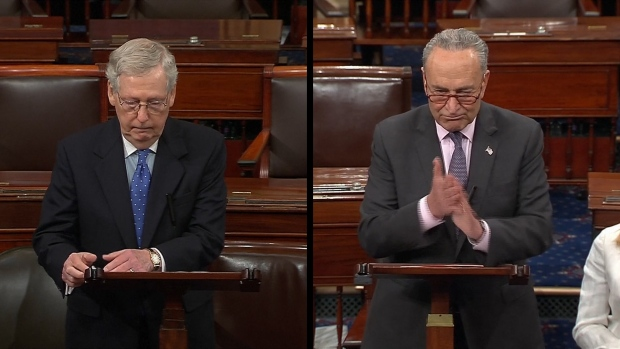 [NATL] McConnell Says 'Case Closed' on Mueller Report, Schumer Says It's Not