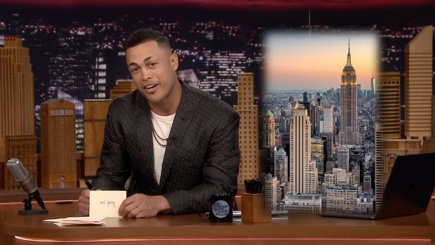 [NATL] 'Tonight': Yankees Superstar Giancarlo Stanton Writes a Thank You Note to NYC