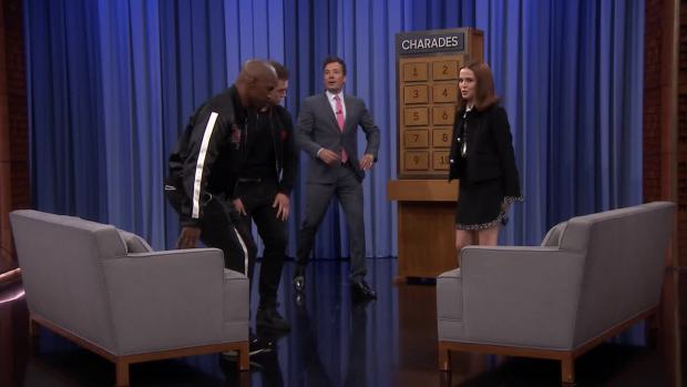 [NATL] 'Tonight': Charades With Jamie Foxx, Taron Egerton and Zoey Deutch