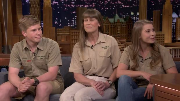 [NATL] 'Tonight': The Irwins Talk Steve, Conservation And a Baby Giraffe