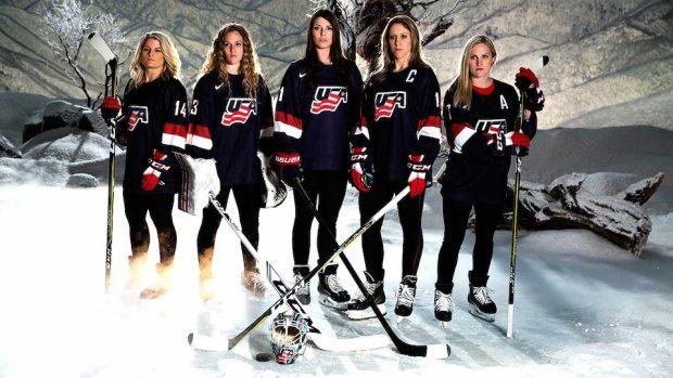Model Olympians: U.S. Women's Hockey Team