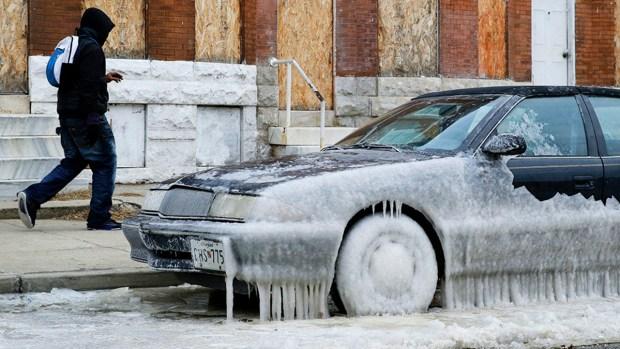 [AP] Polar Vortex Continues, Warmer Weather Days Away