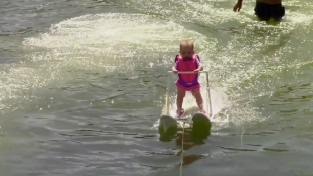 [NATL] 6-Month-Old Baby Water Skis in Florida