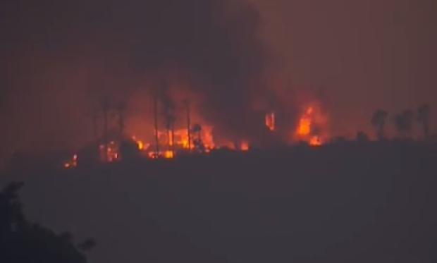[NATL-BAY] Twin Mendocino Fires Flare Up, Burn Homes