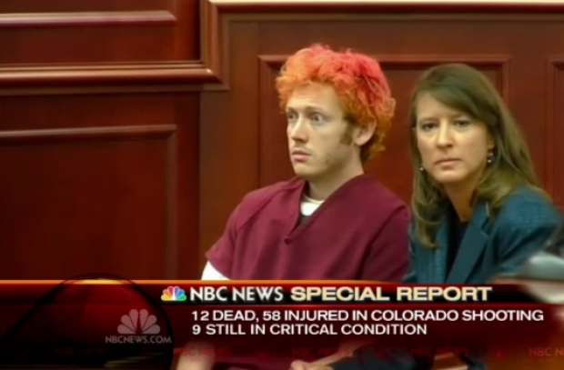 Facial Expressions of Movie Massacre Suspect James Holmes in Court