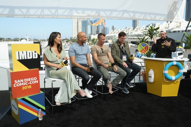 Top Celeb Photos: 'The Predator' Stars Panel Aboard Yacht