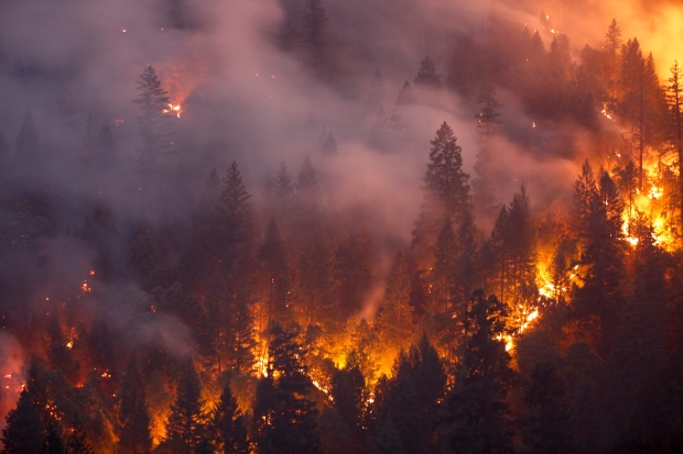 Dramatic Images: Raging Wildfire Rips Through NorCal Towns