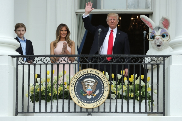 Trump Family Pulls Off First White House Easter Egg Roll