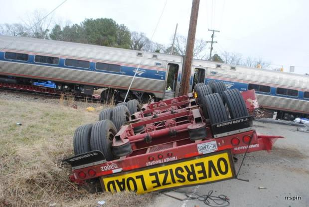 Dramatic Photos: Amtrak Strikes Truck, Derails in N.C.