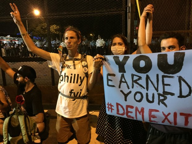 Protesters Try to Push Through DNC Gate